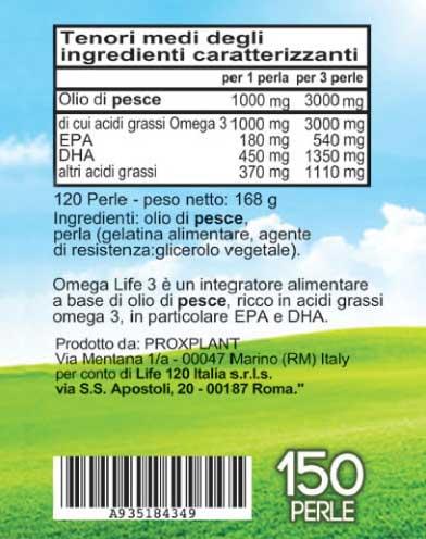 Ingredienti Omega 3 Life