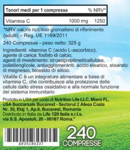 Ingredienti VitaLife C